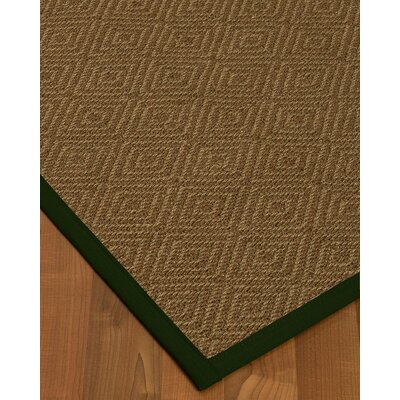 Keown Border Hand-Woven Brown/Black Area Rug Rug Size: Rectangle 4 x 6, Rug Pad Included: Yes