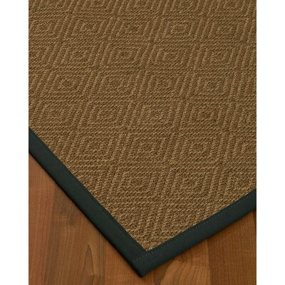 Kenn Border Hand-Woven Brown/Onyx Area Rug Rug Size: Rectangle 8 x 10, Rug Pad Included: Yes