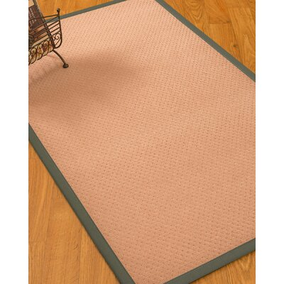 Farnham Border Hand-Woven Wool Pink/Stone Area Rug Rug Size: Rectangle 9' x 12', Rug Pad Included: Yes