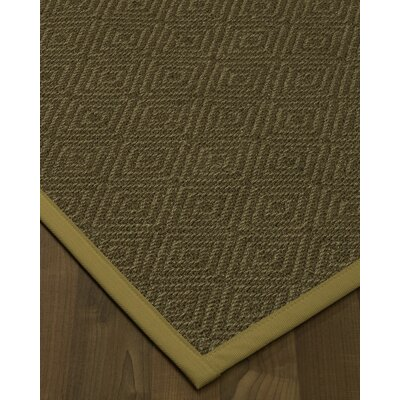 Magnuson Border Hand-Woven Green/Sage Area Rug Rug Size: Runner 26 x 8, Rug Pad Included: No