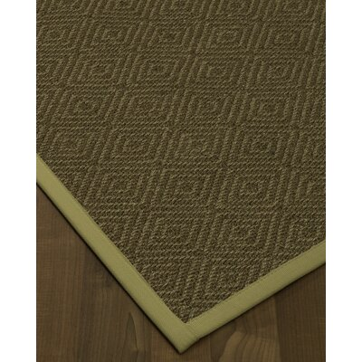 Magnuson Border Hand-Woven Green Area Rug Rug Size: Rectangle 4 x 6, Rug Pad Included: Yes