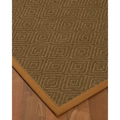 Magnuson Border Hand-Woven Brown/Sienna Area Rug Rug Size: Rectangle 12 x 15, Rug Pad Included: Yes