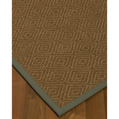 Magnuson Border Hand-Woven Brown Area Rug Rug Size: Rectangle 4' x 6', Rug Pad Included: Yes