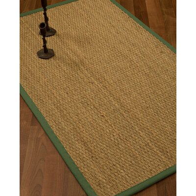 Vanmatre Border Hand-Woven Beige/Green Area Rug Rug Size: Rectangle 12 x 15, Rug Pad Included: Yes
