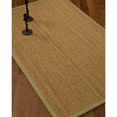Vanmatre Border Hand-Woven Beige Area Rug Rug Size: Rectangle 12 x 15, Rug Pad Included: Yes