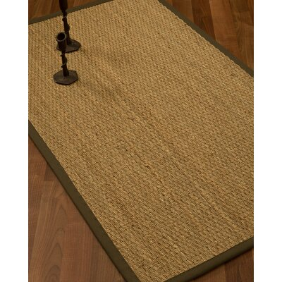 Vanmatre Border Hand-Woven Beige/Malt Area Rug Rug Size: Rectangle 9 x 12, Rug Pad Included: Yes