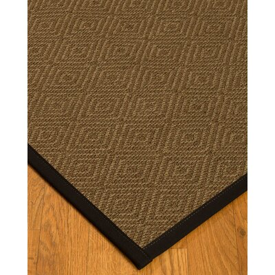Kendricks Border Hand-Woven Brown/Black Area Rug Rug Size: Rectangle 12 x 15, Rug Pad Included: Yes