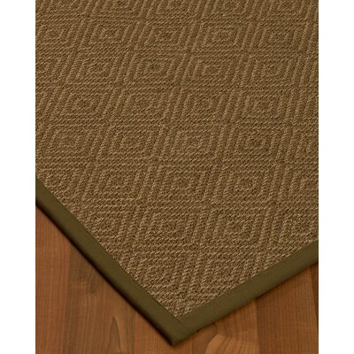 Magnuson Border Hand-Woven Brown Area Rug Rug Size: Rectangle 4 x 6, Rug Pad Included: Yes