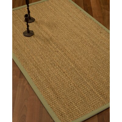 Vanmatre Border Hand-Woven Beige/Natural Area Rug Rug Size: Rectangle 4 x 6, Rug Pad Included: Yes