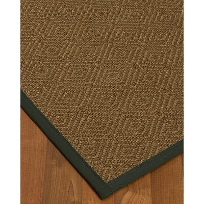 Magnuson Border Hand-Woven Brown/Metal Area Rug Rug Size: Rectangle 5 x 8, Rug Pad Included: Yes