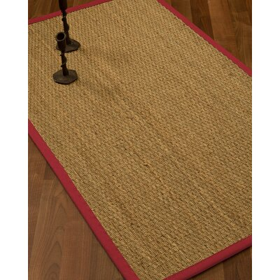 Vanmatre Border Hand-Woven Beige/Red Area Rug Rug Size: Rectangle 6' x 9', Rug Pad Included: Yes