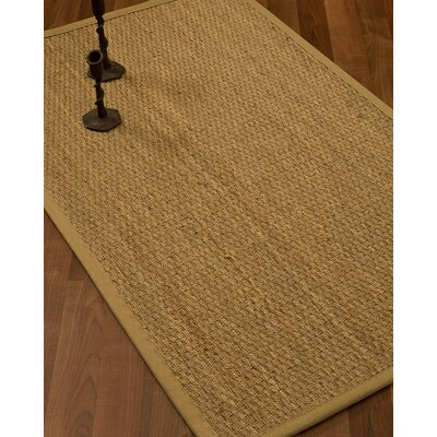 Vanmatre Border Hand-Woven Beige/Sage Area Rug Rug Size: Rectangle 9 x 12, Rug Pad Included: Yes