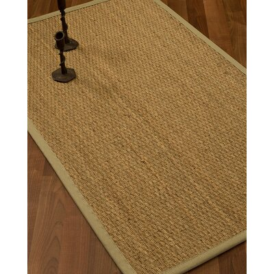 Vanmatre Border Hand-Woven Beige/Sand Area Rug Rug Size: Rectangle 8 x 10, Rug Pad Included: Yes