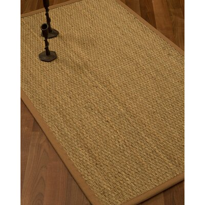 Vanmatre Border Hand-Woven Beige/Ivory Area Rug Rug Size: Rectangle 12 x 15, Rug Pad Included: Yes