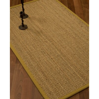 Vanmatre Border Hand-Woven Beige/Tan Area Rug Rug Size: Rectangle 5 x 8, Rug Pad Included: Yes