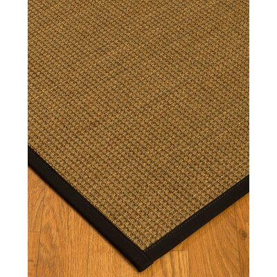 Chavez Border Hand-Woven Beige/Black Area Rug Rug Size: Rectangle 12 x 15, Rug Pad Included: Yes
