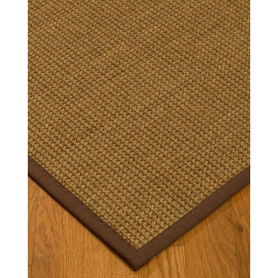 Kentwood Border Hand-Woven Beige/Brown Area Rug Rug Size: Runner 26 x 8, Rug Pad Included: No