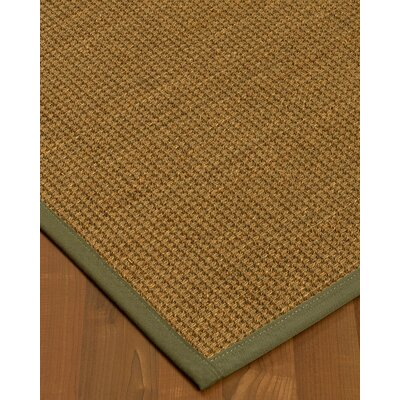 Chavez Border Hand-Woven Beige/Fossil Area Rug Rug Size: Rectangle 12 x 15, Rug Pad Included: Yes