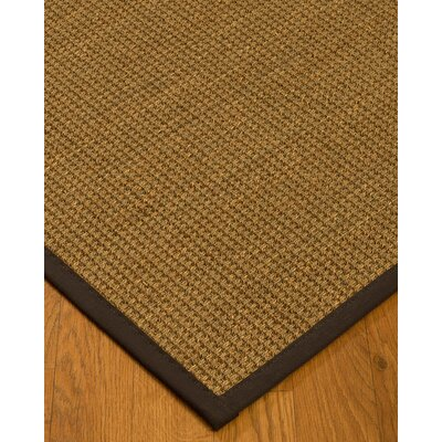 Kepler Border Hand-Woven Beige/Fudge Area Rug Rug Size: Rectangle 8 x 10, Rug Pad Included: Yes