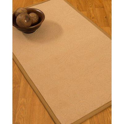 Vanmeter Border Hand-Woven Wool Beige/Ivory Area Rug Rug Size: Rectangle 5 x 8, Rug Pad Included: Yes