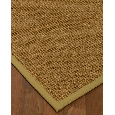 Chavez Border Hand-Woven Beige Area Rug Rug Size: Rectangle 12 x 15, Rug Pad Included: Yes