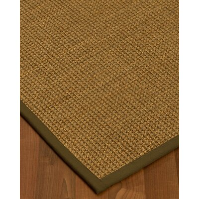 Chavez Border Hand-Woven Beige/Malt Area Rug Rug Size: Rectangle 5 x 8, Rug Pad Included: Yes
