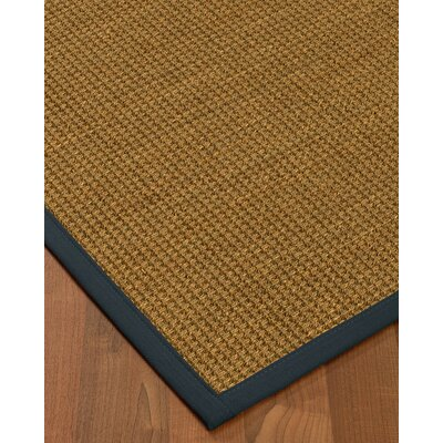 Chavez Border Hand-Woven Beige/Marine Area Rug Rug Size: Rectangle 9 x 12, Rug Pad Included: Yes