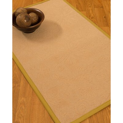 Vanmeter Border Hand-Woven Wool Beige/Tan Area Rug Rug Size: Rectangle 8 x 10, Rug Pad Included: Yes