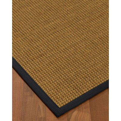 Chavez Border Hand-Woven Beige/Midnight Blue Area Rug Rug Size: Runner 26 x 8, Rug Pad Included: No