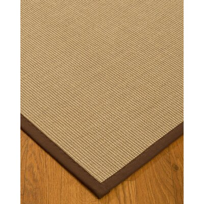 Atwell Border Hand-Woven Beige/Brown Area Rug Rug Size: Rectangle 6 x 9, Rug Pad Included: Yes
