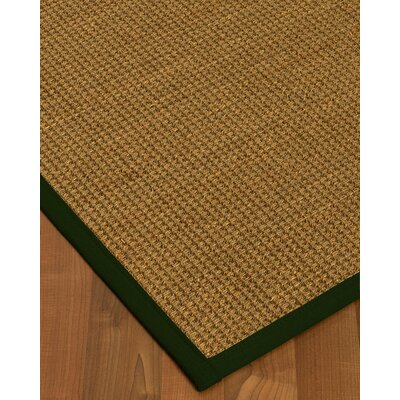 Chavez Border Hand-Woven Beige/Moss Area Rug Rug Size: Rectangle 8 x 10, Rug Pad Included: Yes