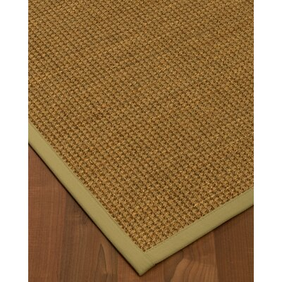 Chavez Border Hand-Woven Beige/Natural Area Rug Rug Size: Rectangle 4 x 6, Rug Pad Included: Yes