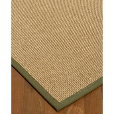 Atwell Border Hand-Woven Gray/Fossil Area Rug Rug Size: Rectangle 8 x 10, Rug Pad Included: Yes