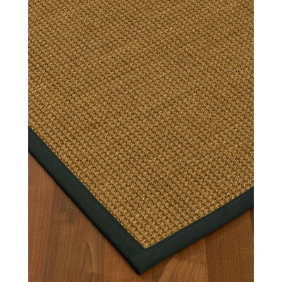Kenworthy Border Hand-Woven Brown/Onyx Area Rug Rug Size: Rectangle 12 x 15, Rug Pad Included: Yes