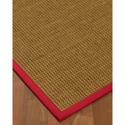 Chavez Border Hand-Woven Beige/Red Area Rug Rug Size: Rectangle 5 x 8, Rug Pad Included: Yes