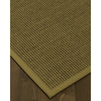 Chavez Border Hand-Woven Beige/Sage Area Rug Rug Size: Rectangle 8 x 10, Rug Pad Included: Yes