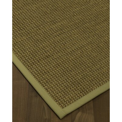 Chavez Border Hand-Woven Beige/Sand Area Rug Rug Size: Rectangle 9 x 12, Rug Pad Included: Yes