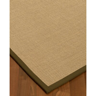 Atwell Border Hand-Woven Beige/Malt Area Rug Rug Size: Rectangle 4 x 6, Rug Pad Included: Yes