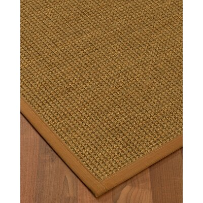 Chavez Border Hand-Woven Beige/Sienna Area Rug Rug Size: Rectangle 8 x 10, Rug Pad Included: Yes