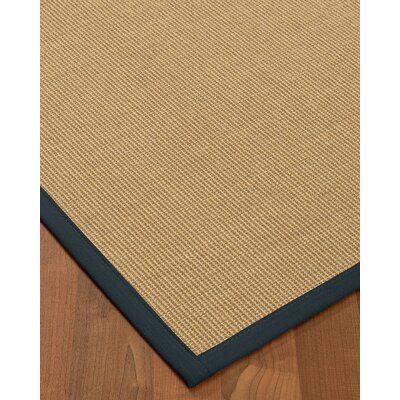Atwell Border Hand-Woven Beige/Marine Area Rug Rug Size: Runner 26 x 8, Rug Pad Included: No