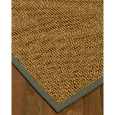 Chavez Border Hand-Woven Beige/Stone Area Rug Rug Size: Rectangle 4 x 6, Rug Pad Included: Yes