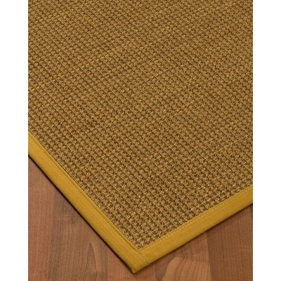 Chavez Border Hand-Woven Beige/Tan Area Rug Rug Size: Rectangle 9 x 12, Rug Pad Included: Yes