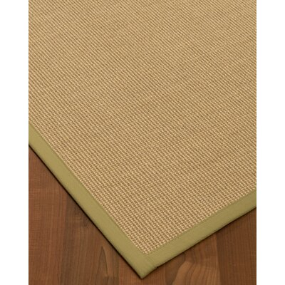 Atwell Border Hand-Woven Beige Area Rug Rug Size: Rectangle 6 x 9, Rug Pad Included: Yes