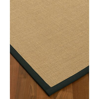 Atwell Border Hand-Woven Beige/Onyx Area Rug Rug Size: Runner 26 x 8, Rug Pad Included: No