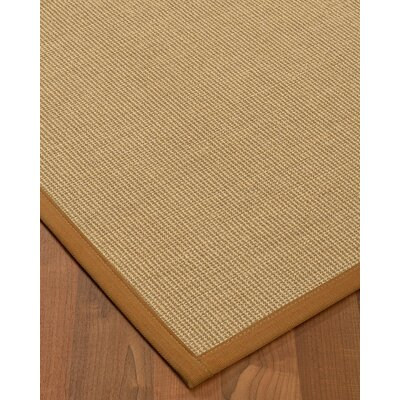 Atwell Border Hand-Woven Beige/Brown Area Rug Rug Size: Rectangle 5 x 8, Rug Pad Included: Yes