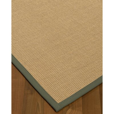 Atwell Border Hand-Woven Beige/Stone Area Rug Rug Size: Rectangle 8 x 10, Rug Pad Included: Yes
