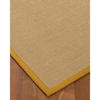 Atwell Border Hand-Woven Beige/Tan Area Rug Rug Size: Runner 26 x 8, Rug Pad Included: No