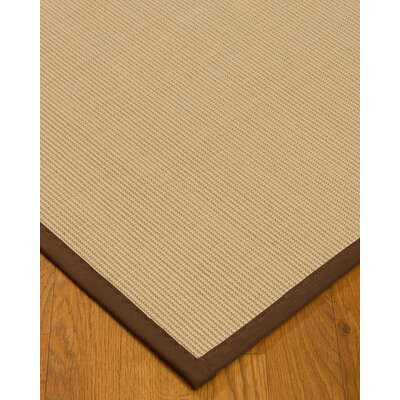 Vannatta Border Hand-Woven Wool Beige/Brown Area Rug Rug Size: Rectangle 6 x 9, Rug Pad Included: Yes