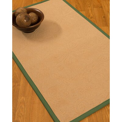 Vanmeter Border Hand-Woven Wool Beige/Green Area Rug Rug Size: Rectangle 8 x 10, Rug Pad Included: Yes