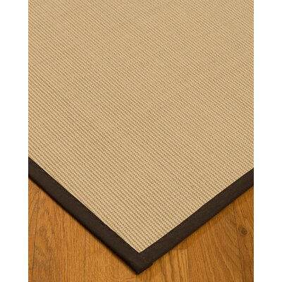 Vannatta Border Hand-Woven Wool Beige/Fudge Area Rug Rug Size: Rectangle 8 x 10, Rug Pad Included: Yes